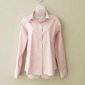 "Pink ""Non-Iron"" Dress Shirt w/ Princess Seams"
